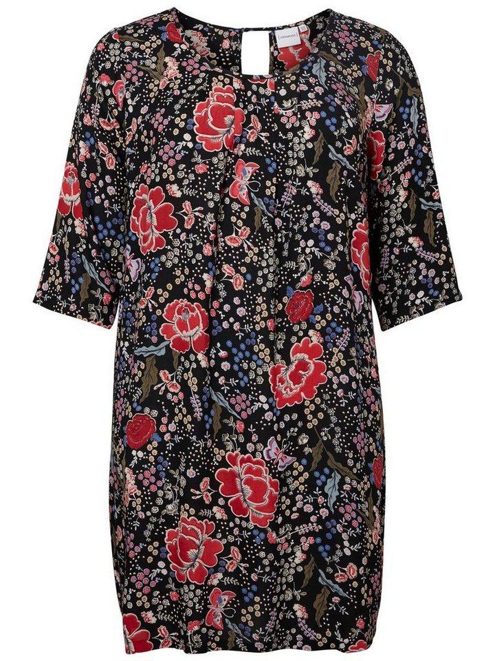 Junarose 3/4-mouw jurk multicolor