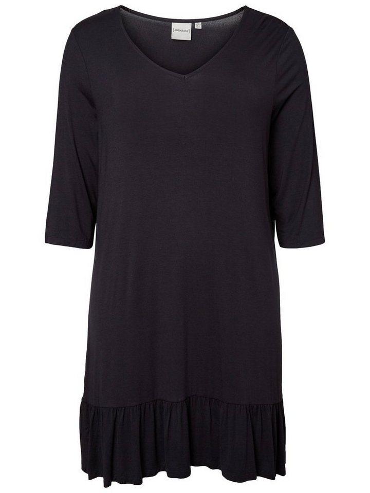 Junarose Volant jurk zwart