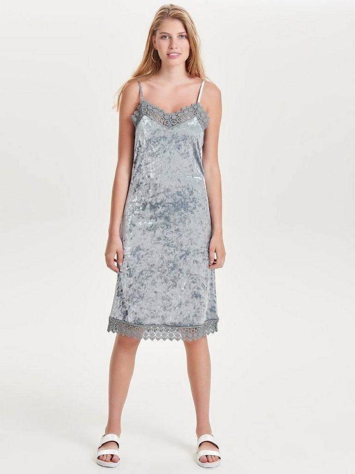ONLY Fluwelen jurk zilver