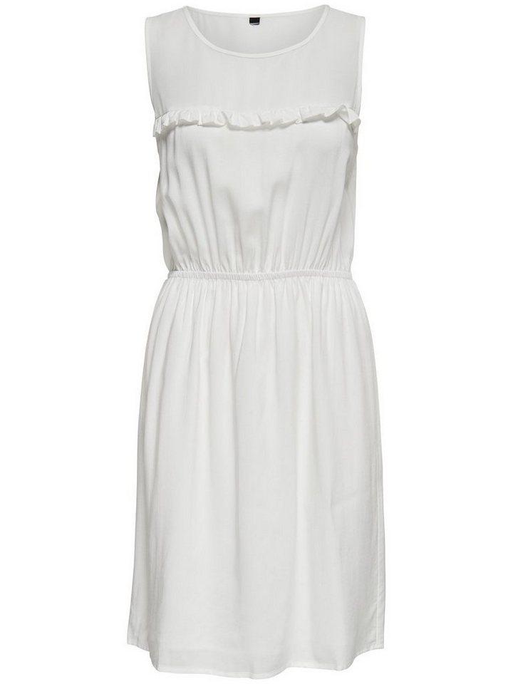 ONLY Ruche Mouwloze jurk wit