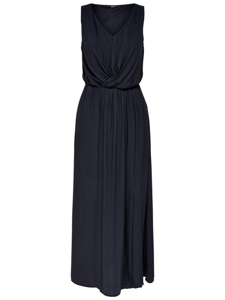 ONLY Mouwloze Maxi jurk blauw