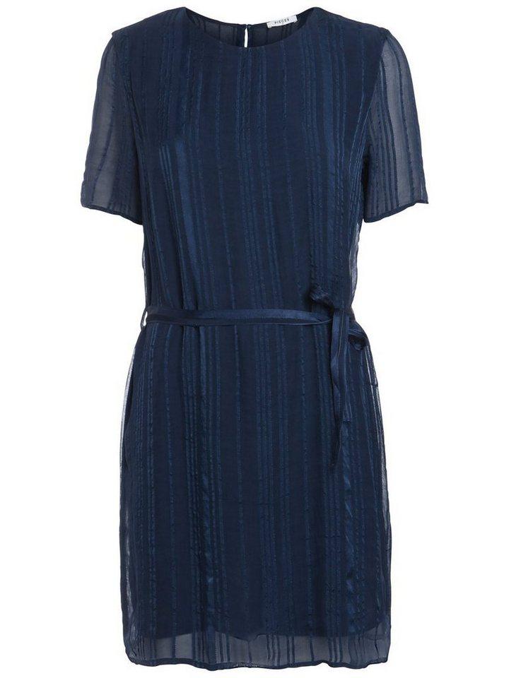 NU 21% KORTING: Pieces Korte mouw jurk blauw
