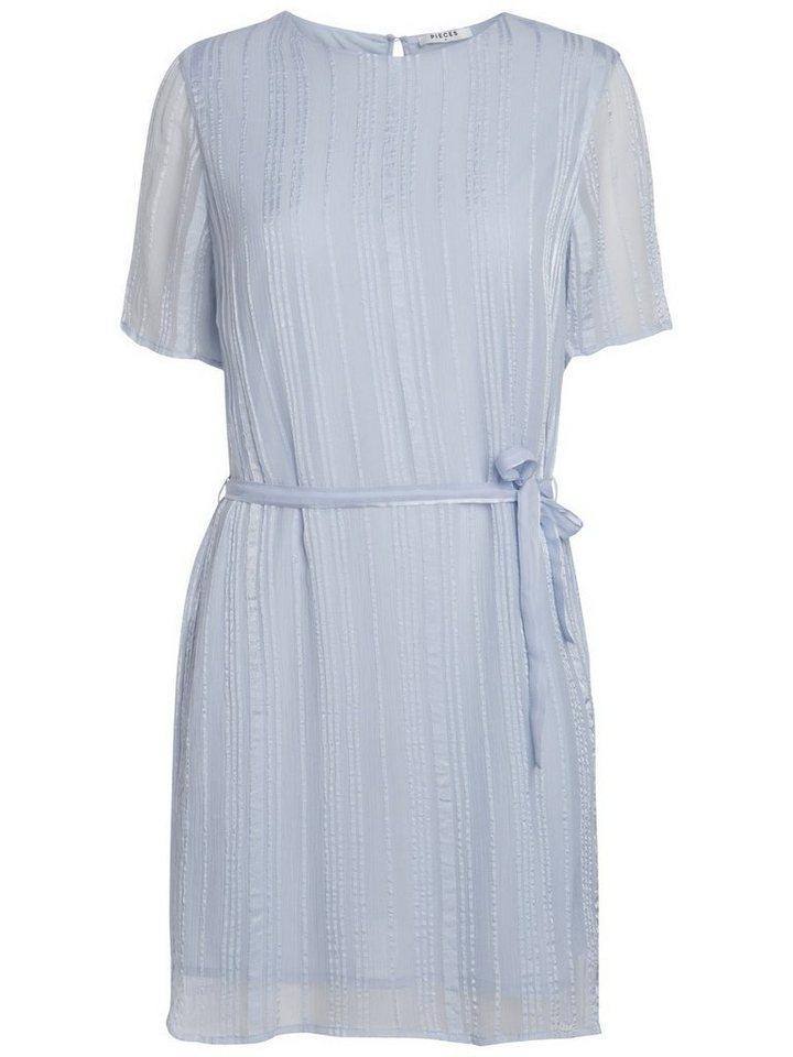 Pieces Korte mouw jurk blauw