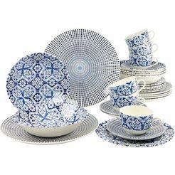 creatable combi-servies 'marrakesch' (30-delig) blauw