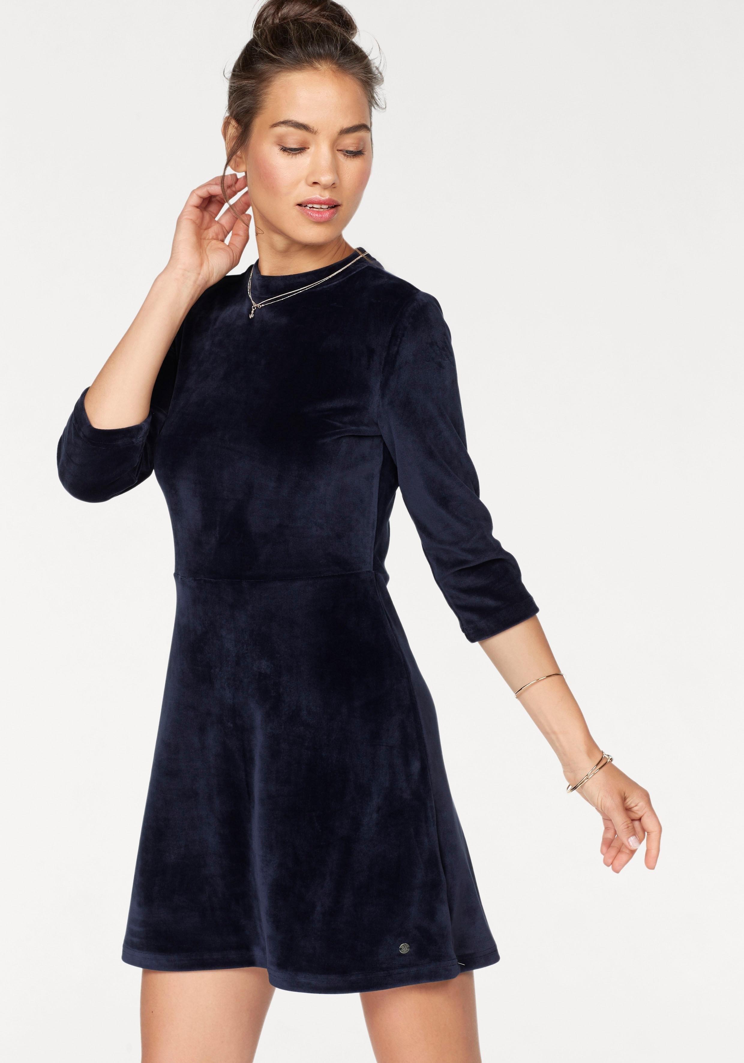 velvet jurk blauw