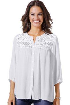 classic inspirationen blouse met een motievenmix van gehaakte kant wit