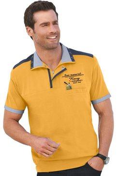 marco donati shirt van puur katoen met korte mouwen oranje