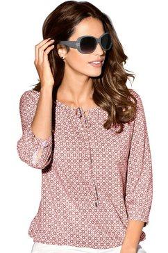 classic inspirationen blouse met grafisch minimal-dessin rood