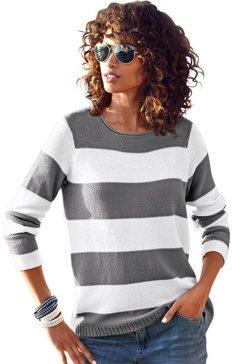 ambria trui met brede strepen grijs