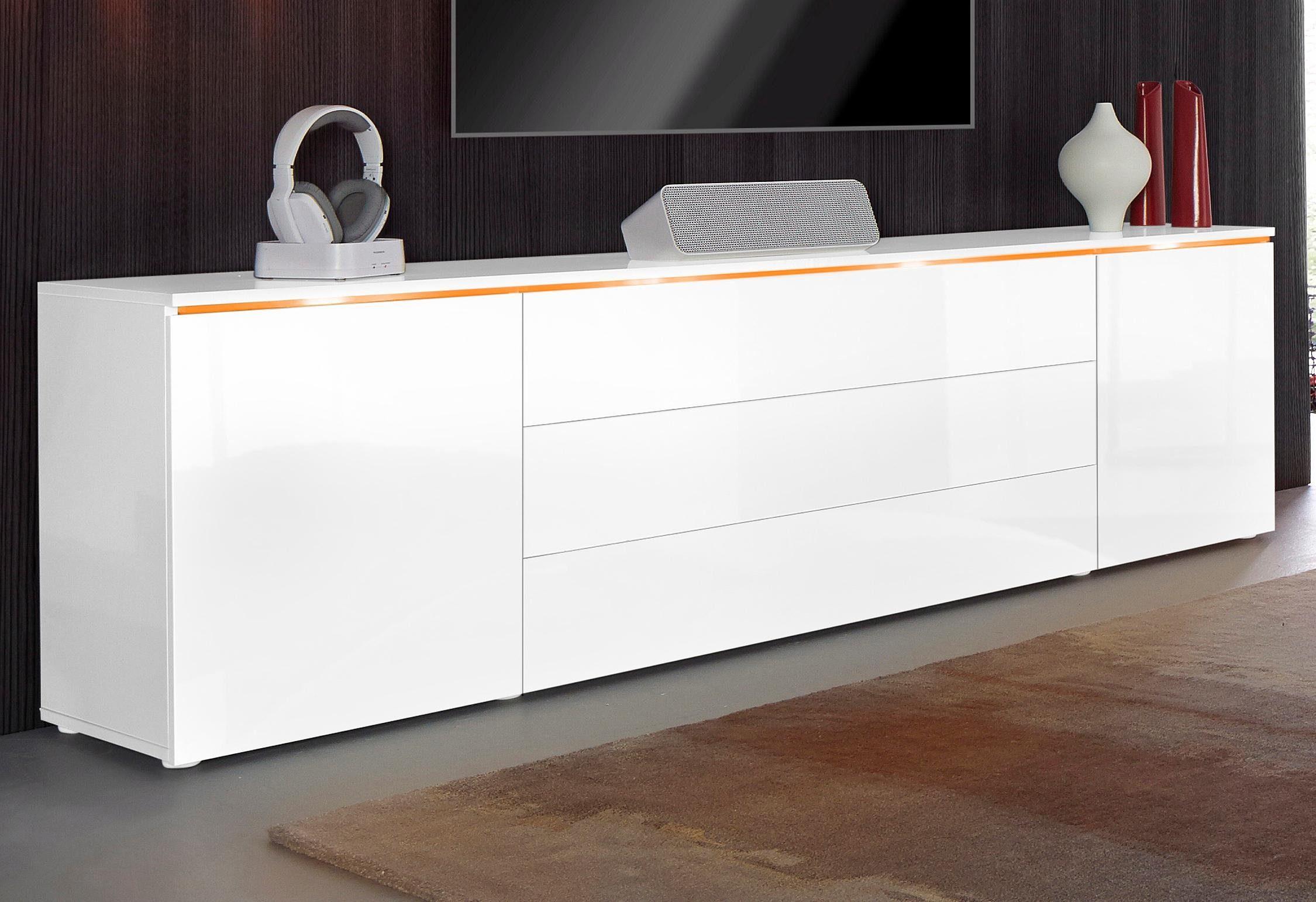 Dressoir bruin wit kast lowboard tv kast tv meubel