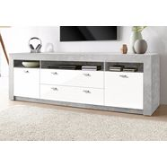 tv-meubel, breedte 188, 5 cm wit