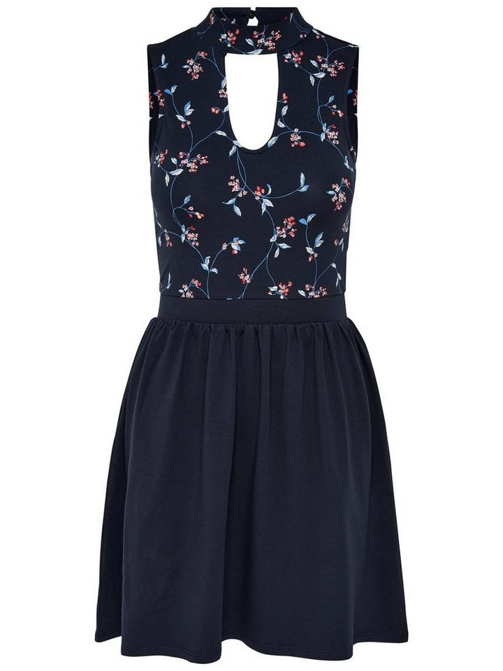NU 21% KORTING: ONLY Choker Mouwloze jurk blauw