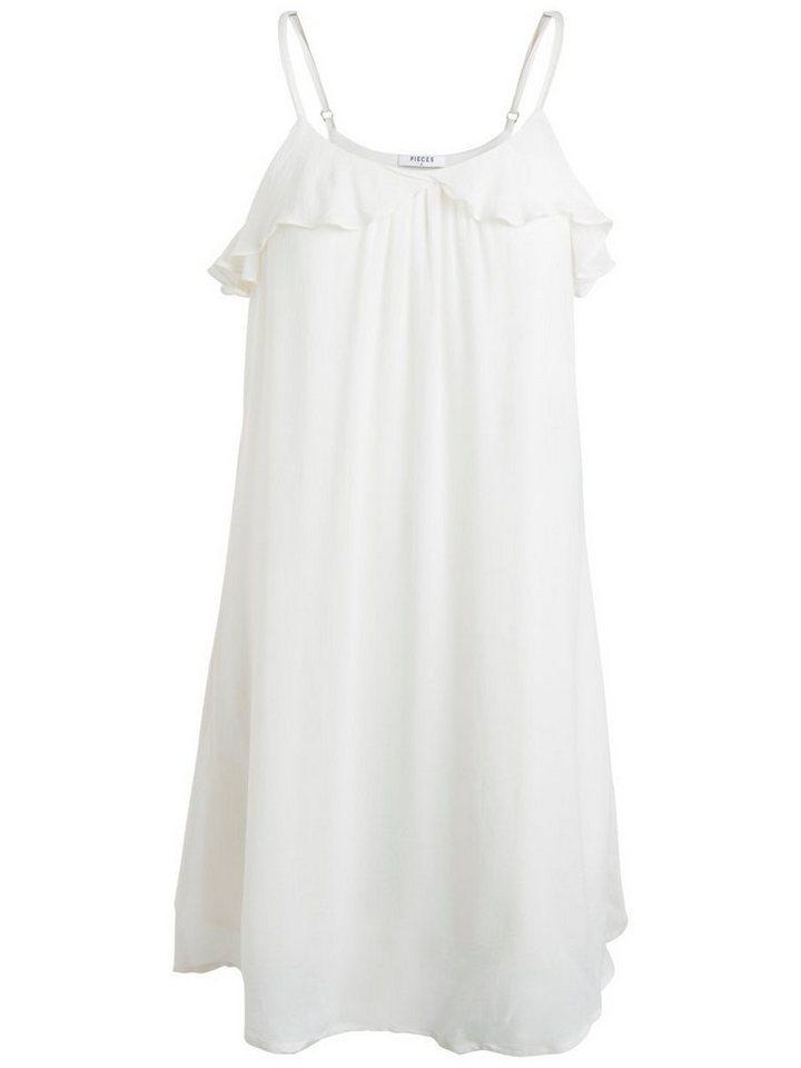 Pieces Klassieke jurk wit
