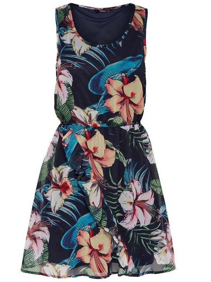 ONLY Bedrukte Mouwloze jurk multicolor