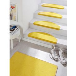 tredemat, »fancy«, hanse home, trapvormig, hoogte 7 mm, machinaal getuft gelb