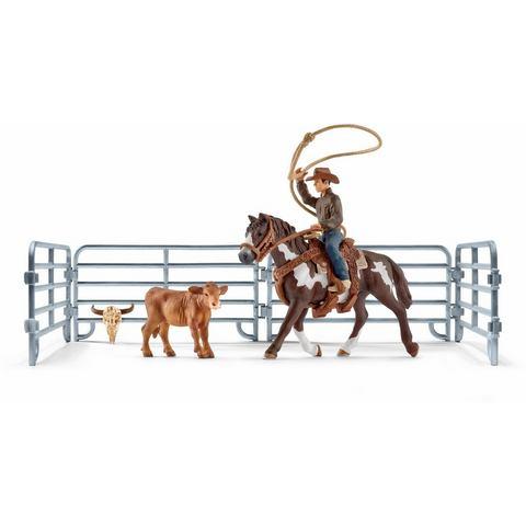 Team roping mit Cowboy