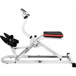 christopeit sport fitnessapparaat voor thuis »horse glider« wit