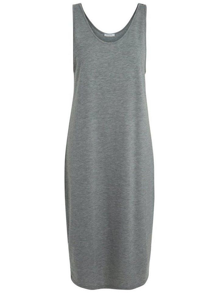 Pieces Basic zomer jurk grijs