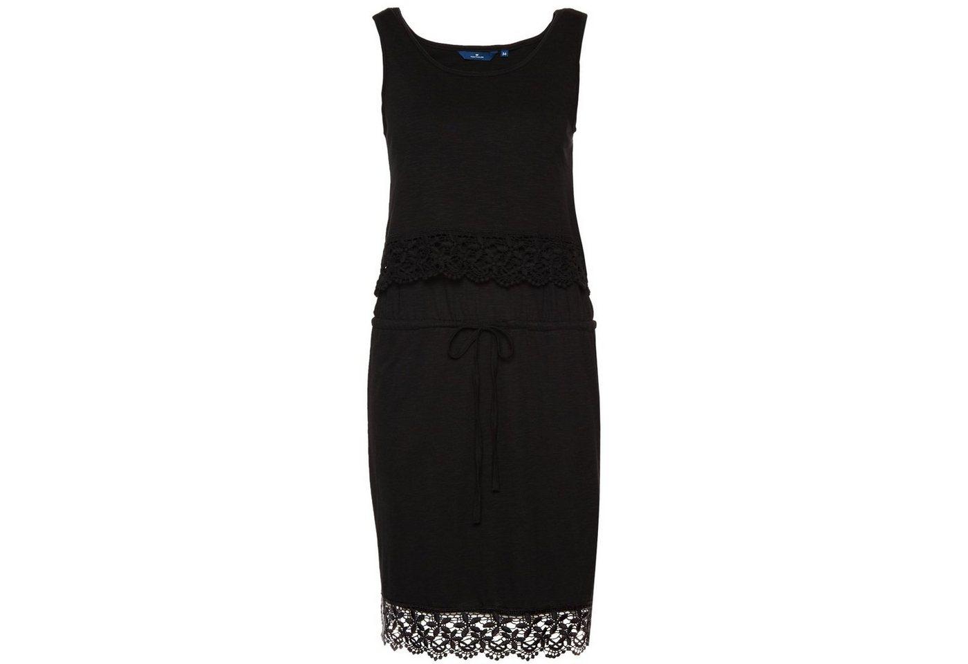 Tom Tailor jurk jurk met details van kant zwart