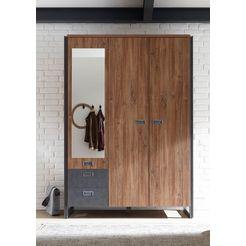 home affaire garderobekast «detroit», naar keuze 2-, 3-, of 5-deurs, in industrile look bruin