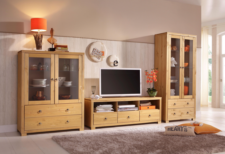 Home affaire wandmeubel Gotland bestaand uit 1 highboard, 1 tv-meubel en 1 vitrinekast (set, 3 stuks) bij OTTO online kopen