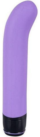 Siliconen G-spot vibrator paars