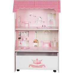 roba poppenhuis poppenvilla voor aankleedpoppen roze