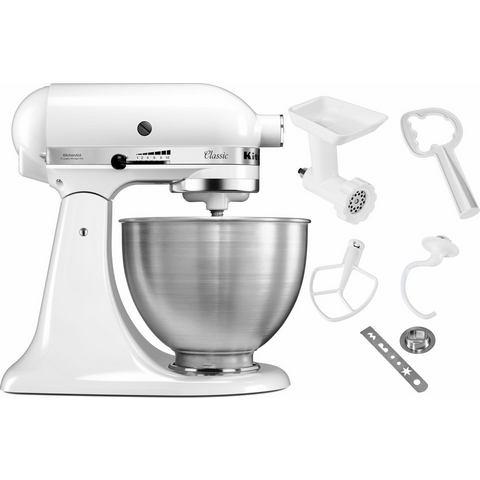 KitchenAid Keukenmachine Classics 5K45SS EWH, incl. extra accessoires ter waarde