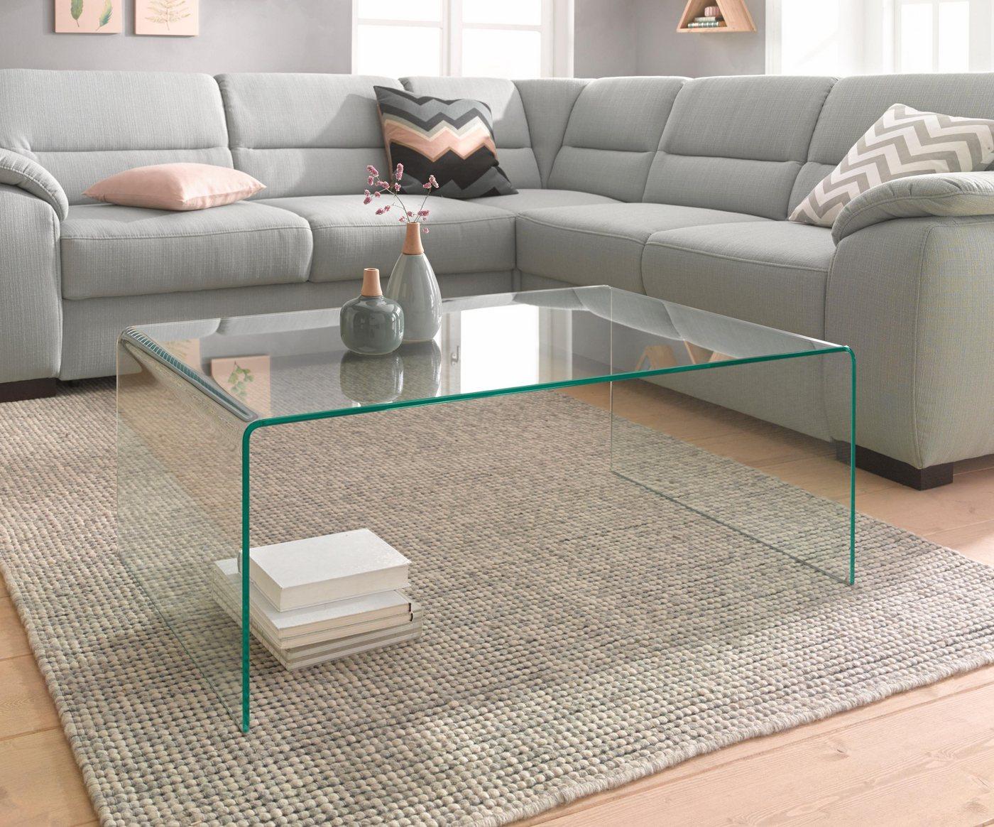 Salontafel van vensterglas
