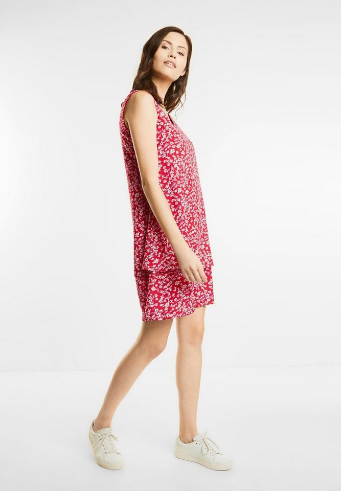 Street One jurk met bloemenprint rood