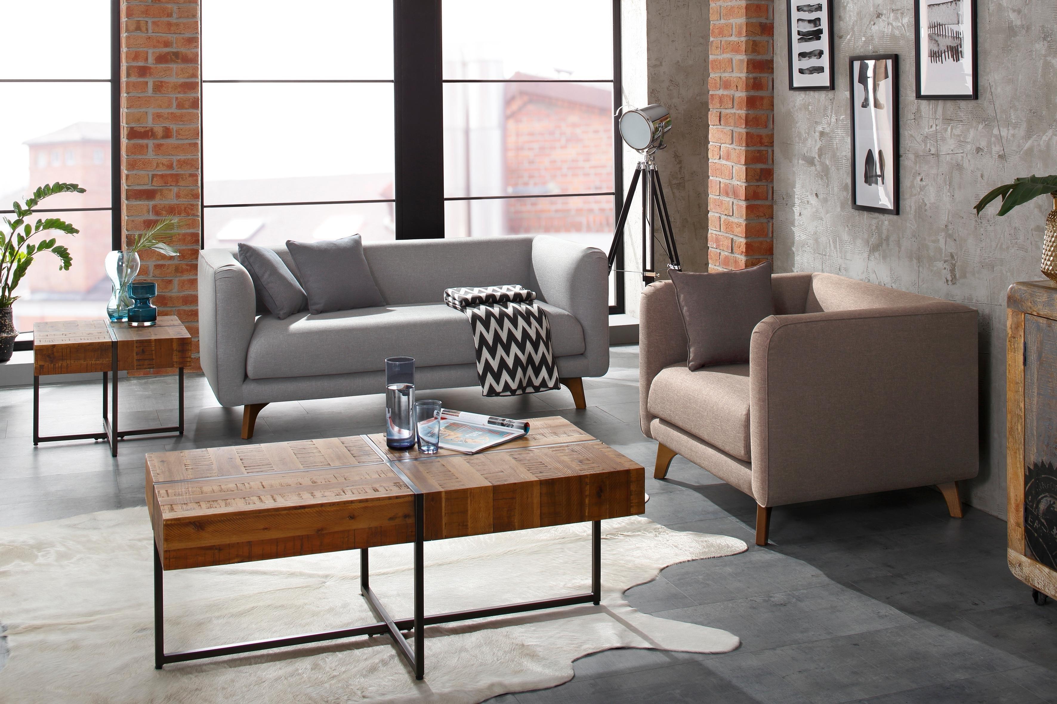 Home affaire salontafel Marilyn Tafelblad 120x60 cm, in industrial-look - verschillende betaalmethodes