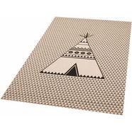 vloerkleed voor de kinderkamer, »tipi noya«, zala living, rechthoekig, h 4 mm, machinaal geweven beige