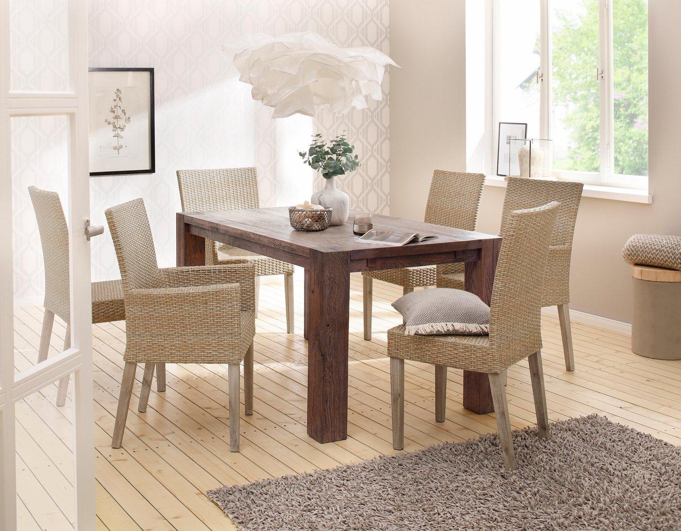 HOME AFFAIRE Eettafel Model 1 met houten poten