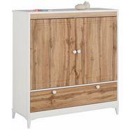 home affaire linnenkast »kjell« met 2 laden en 2 deuren, breedte 119 cm, hoogte 130 cm wit