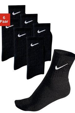 nike sportsokken met voetfrotté (6 paar) zwart