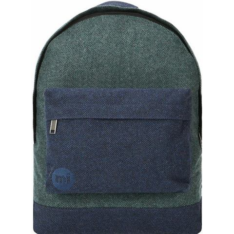 mi pac. Rugzak met laptopvak, Heavyweight Premium Herringbone Mix, green/navy