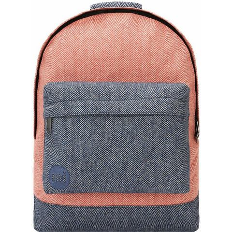 mi pac. rugzak met laptopvak, Heavyweight Premium Herringbone Mix, terracotta/na