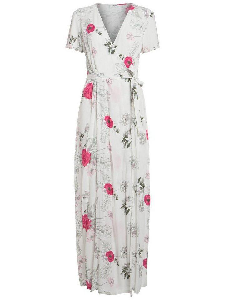 Pieces Lange gebloemde jurk wit