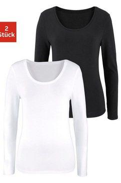 shirt met lange mouwen (set van 2)
