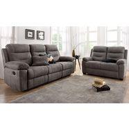 set:2-en 3-zitsbank (set met recliner-functie) grijs