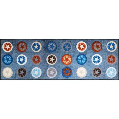 Loper, »Stars Circles«, SALONLOEWE, rechthoekig, hoogte 6 mm, gedessineerd