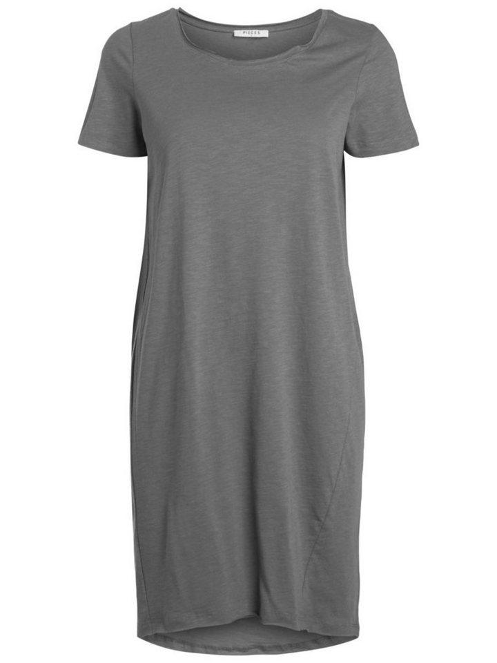 Pieces Korte mouw jurk grijs