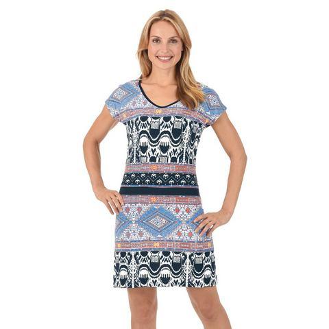 TRIGEMA Knielange jurk in etno-look