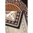delavita vloerkleed shari orint-decor, woonkamer zwart