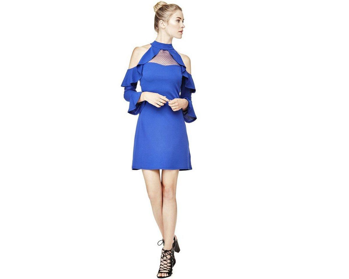 Guess schoudervrije jurk multicolor