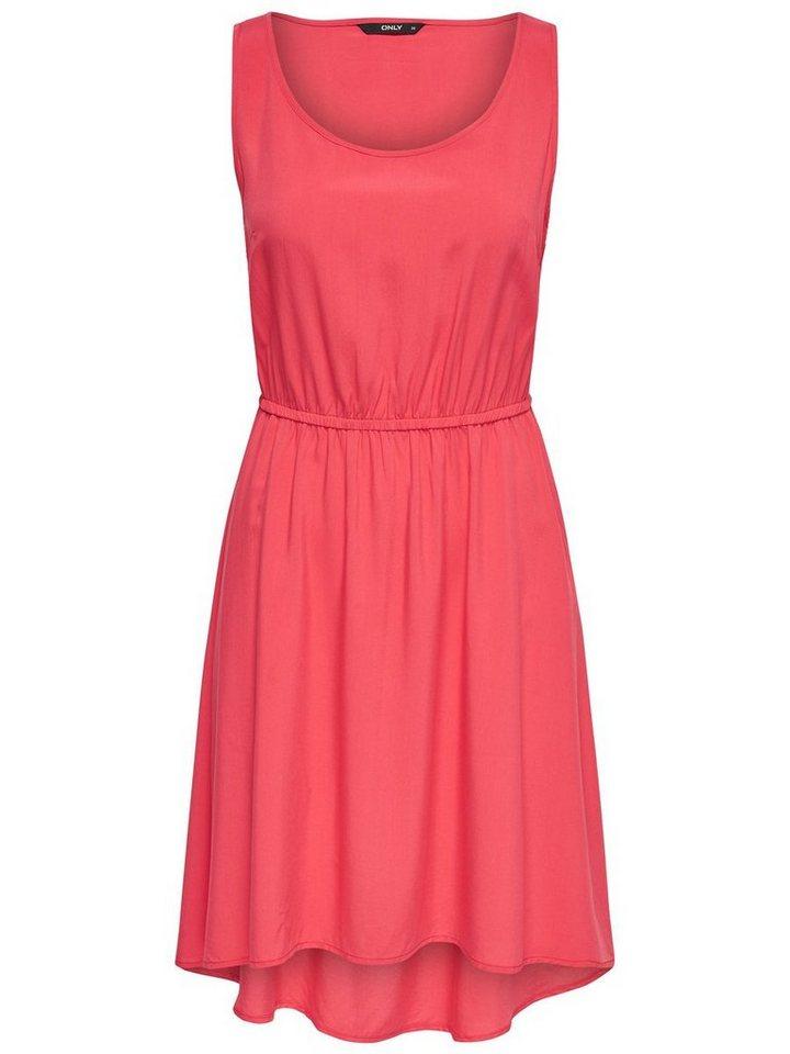 ONLY Effen Mouwloze jurk rood