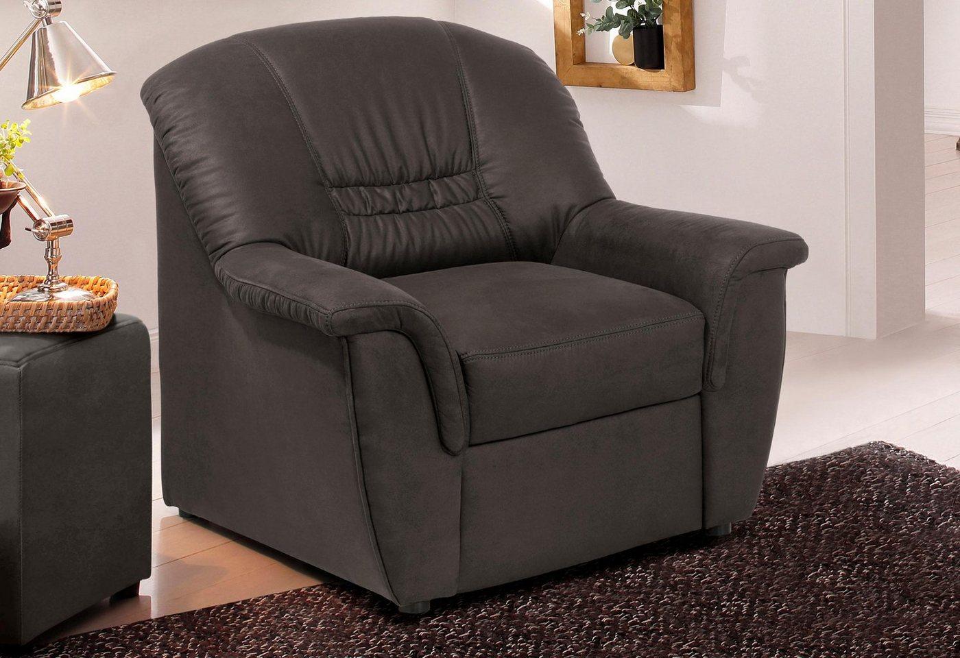 HOME AFFAIRE fauteuil Zoe, met binnenveringsinterieur, in 3 bekledingskwaliteiten