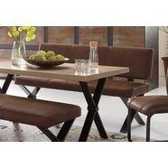 homexperts zitbank colt met rugleuning, breedte 140 of 160 cm, microvezeltijk in vintage-look bruin