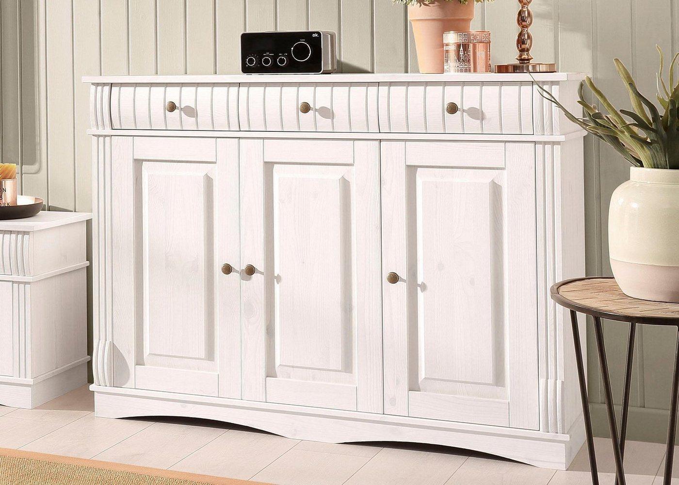 HOME AFFAIRE dressoir Teresa, 3-deurs, breedte 119 cm