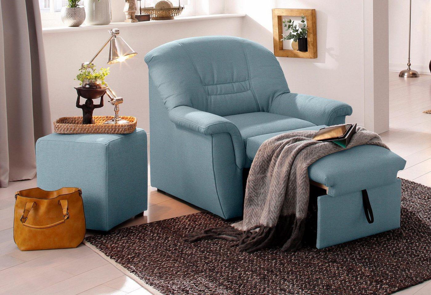 HOME AFFAIRE relaxfauteuil Zoe, met uittrekbaar voetensteuntje en binnenveringsinterieur